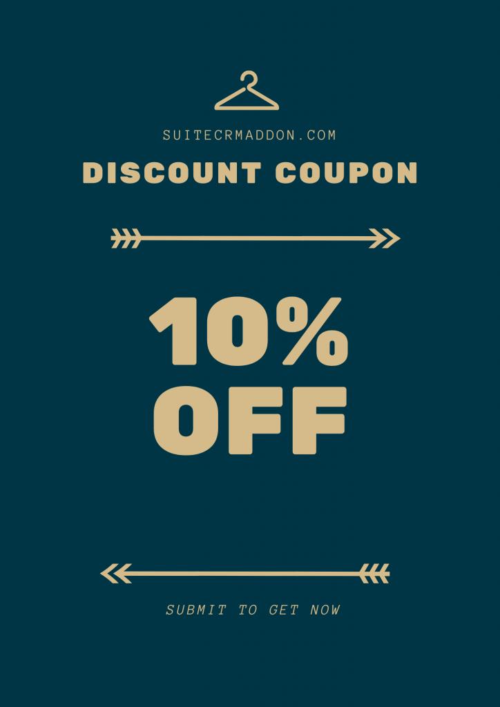 Get free coupon suitecrm plugin