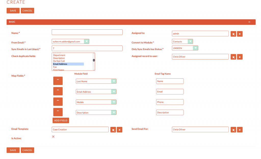 Tool support administrator easier to custom mapping fields